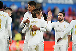 Real Madrid's Raphael Varane (l) and Luka Modric celebrate goal during La Liga match. January 4,2020. (ALTERPHOTOS/Acero)