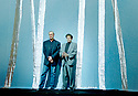 Robert Wilson and Phillip Glass on the set of  The Monsters of Grace, a multimedia chambera opera with music by Phillip Glass, diredted by Robert Wilson. Performed at The Barbican Theatre in 1998  pic Geraint Lewis EDITORIAL USE ONLY