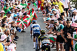 Romain Sicard (FRA) Total Direct Energie and Simon Yates (GBR) Mitchelton-Scott climb the Col du Tourmalet during Stage 14 of the 2019 Tour de France running 117.5km from Tarbes to Tourmalet Bareges, France. 20th July 2019.<br /> Picture: ASO/Alex Broadway | Cyclefile<br /> All photos usage must carry mandatory copyright credit (© Cyclefile | ASO/Alex Broadway)