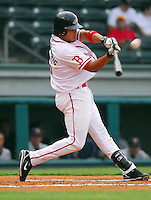 29 May 2007: Manny Arambarris of the Greenville Drive, Class A South Atlantic League affiliate of the Boston Red Sox, in a game against the Charleston RiverDogs at West End Field in Greenville, S.C. Photo by:  Tom Priddy/Four Seam Images