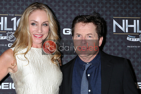 Tracy Pollan, Michael J. Fox<br /> at the The NHL100 Gala, Microsoft Theater, Los Angeles, CA 01-27-17<br /> David Edwards/DailyCeleb.com 818-249-4998
