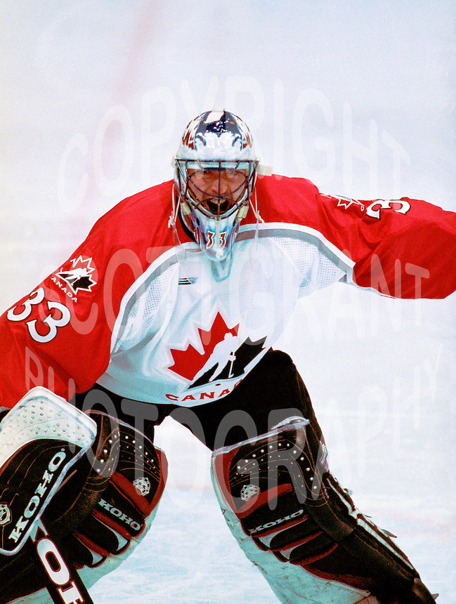 Patrick Roy Team Canada 1998 Olympics. Photo copyright F. Scott Grant