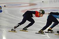 SCHAATSEN: HEERENVEEN: 23-01-2018, IJsstadion Thialf, training Shorttrack, ©foto Martin de Jong