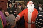 The Bampton Mummers performing Christmas Eve. Bampton Oxfordshire.   UK 2008. Jeff Dando plays Father Christmas.