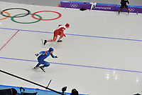OLYMPIC GAMES: PYEONGCHANG: 19-02-2018, Gangneung Oval, Long Track, 500m Men, Mo Tae-Bum (KOR), Piotr Michalski (POL), ©photo Martin de Jong