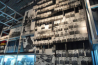 """- 20 years from the nuclear incident of Chernobyl, the Chernobyl museum in Kiev,  portraits of """"Liquidators"""", the civil and military personnel (more than 300.000 persons) that  worked in proibitive conditions and with  insufficient protections in order to put in safety the exploded reactor, very many of them have died subsequently for the effects of radiations..- 20 anni dall'incidente nucleare di Chernobyl, il museo Chernobyl a Kiev, ritratti dei  """"Liquidatori"""", il personale civile e militare (più di 300.000 persone) che operò in condizioni proibitive e con scarsissime protezioni per mettere in sicurezza il reattore esploso, moltissimi di loro sono morti successivamente per gli effetti delle radiazioni"""