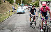 after a 6 year hiatus, pro-rider-turned-triathlete Cameron Wurf (AUS/Ineos Grenadiers) is back in the World Tour peloton & up the infamous Mur de Huy<br /> <br /> 84th La Flèche Wallonne 2020 (1.UWT)<br /> 1 day race from Herve to Mur de Huy (202km/BEL)<br /> <br /> ©kramon