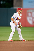 Springfield Cardinals third baseman Jacob Wilson (4) during a game against the Corpus Christi Hooks on May 31, 2017 at Hammons Field in Springfield, Missouri.  Springfield defeated Corpus Christi 5-4.  (Mike Janes/Four Seam Images)