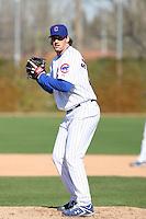 Jeff Samardzija. Chicago Cubs spring training workouts at Fitch Park, Mesa, AZ - 03/01/2010.Photo by:  Bill Mitchell/Four Seam Images.