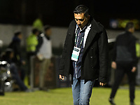 TUNJA -COLOMBIA, 29-07-2018. Diego Andres Corredor técnico de Patriotas Boyacá gesticula durante partido contra Millonarios  por la fecha 2 de la Liga Águila II 2018 realizado en el estadio La Independencia de Tunja. / Diego Andres Corredor coach of Patriotas Boyaca gestures during match against Millonarios  for the date 2 of Aguila League II 2018 played at La Independencia stadium in Tunja. Photo: VizzorImage/ Gabriel Aponte / Staff