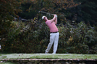 SAPPHIRE, NC - OCTOBER 01: Zack Gordon of Clemson University tees off at The Country Club of Sapphire Valley on October 01, 2019 in Sapphire, North Carolina.