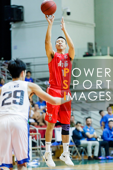 Chan Yik Lun #10 of SCAA Men's Basketball Teamtries to score against the Eastern Long Lions during the Hong Kong Basketball League game between Eastern Long Lions and SCAA at Southorn Stadium on May 29, 2018 in Hong Kong. Photo by Yu Chun Christopher Wong / Power Sport Images