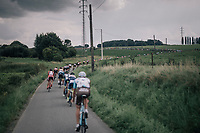 stretched peloton<br /> <br /> 97th Brussels Cycling Classic (1.HC)<br /> 1 Day Race: Brussels > Brussels (201km)