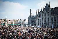 another fully packed Bruges Market Square to greet the riders before the start of the 100th Ronde van Vlaanderen 2016