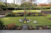 Pictured: A trees planted by HRH Queen Elizabeth at the Memorial Garden Friday 21 October 2016<br />