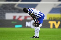 13th February 2021; Dragao Stadium, Porto, Portugal; Portuguese Championship Football, FC Porto versus Boa Vista; Malang Sarr of FC Porto frustrated after the match