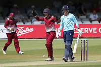 Cambridgeshire claim the wicket of Michael Pepper during Essex Eagles vs Cambridgeshire CCC, Domestic One-Day Cricket Match at The Cloudfm County Ground on 20th July 2021