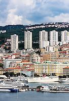 Cityscape of Rijeka, Croatia