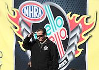 Feb. 24, 2013; Chandler, AZ, USA; NHRA funny car driver Tony Pedregon during the Arizona Nationals at Firebird International Raceway. Mandatory Credit: Mark J. Rebilas-