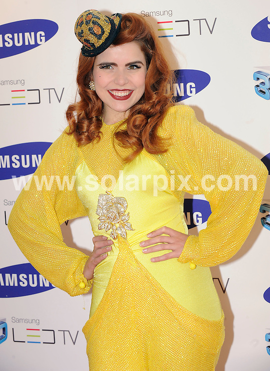 **ALL ROUND PICTURES FROM SOLARPIX.COM**.**WORLDWIDE SYNDICATION RIGHTS**.Celebrities arrive at the Samsung 3D Television party at the Saatchi Gallery, Duke of York's HQ, London UK. 27 April 2010..This pic: Paloma Faith..JOB REF: 11166 SSD     DATE: 27_04_2010.**MUST CREDIT SOLARPIX.COM OR DOUBLE FEE WILL BE CHARGED**.**MUST NOTIFY SOLARPIX OF ONLINE USAGE**.**CALL US ON: +34 952 811 768 or LOW RATE FROM UK 0844 617 7637**