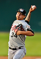 19 July 2012: Tri-City ValleyCats pitcher Vincent Velasquez on the mound against the Vermont Lake Monsters at Centennial Field in Burlington, Vermont. The ValleyCats defeated the Lake Monsters 6-3 in NY Penn League action. Mandatory Credit: Ed Wolfstein Photo