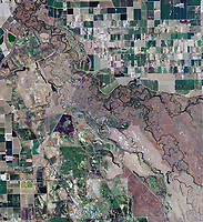 aerial photograph of the Grasslands Wildlife Management Area, western Merced County, California