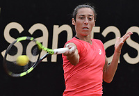 BOGOTA -COLOMBIA. 13-04-2017: Francesca Schiavone (ITA) durante juego contra Kiki Bertens (NED) de cuartos de final del Claro Open Colsanitas WTA 2017 jugado en el Club Los Lagartos en Bogota. /  Francesca Schiavone (ITA) during match against Kiki Bertens (NED) for the quater final of Claro Open Colsanitas WTA 2017 played at Club Los Lagartos in Bogota city. Photo: VizzorImage/ Gabriel Aponte / Staff