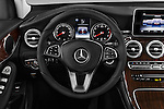 Car pictures of steering wheel view of a 2018 Mercedes Benz GLC-Class GLC300 5 Door SUV Steering Wheel