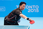 Toronto, ON - Aug 8 2015 -  Stephanie Chan competes in Group A WS 6-7 table tennis in the ATOS Markham Parapan Centre during the Toronto 2015 Parapan American Games  (Photo: Matthew Murnaghan/Canadian Paralympic Committee)