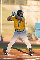 AZL Athletics designated hitter Gio Dingcong (26) at bat during an Arizona League game against the AZL Giants Black at the San Francisco Giants Training Complex on June 19, 2018 in Scottsdale, Arizona. AZL Athletics defeated AZL Giants Black 8-3. (Zachary Lucy/Four Seam Images)