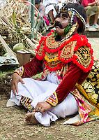Bali, Indonesia.  Village Man Re-enacting Stories from Balinese Hindu Mythology.