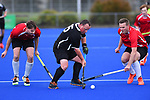 NELSON, NEW ZEALAND - Club Hockey Men's Final. Saxton Pitch, Nelson. New Zealand. Saturday 25 September 2021. (Photo by Chris Symes/Shuttersport Limited)<br /> <br /> Licence type: Rights-managed<br /> Release info: Not released.