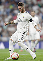 Real Madrid's Sergio Ramos during La Liga match. August 19,2018.  *** Local Caption *** © pixathlon<br /> Contact: +49-40-22 63 02 60 , info@pixathlon.de