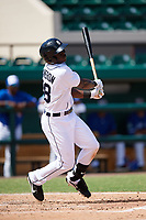Detroit Tigers Daz Cameron (38) at bat during an Instructional League game against the Toronto Blue Jays on October 12, 2017 at Joker Marchant Stadium in Lakeland, Florida.  (Mike Janes/Four Seam Images)