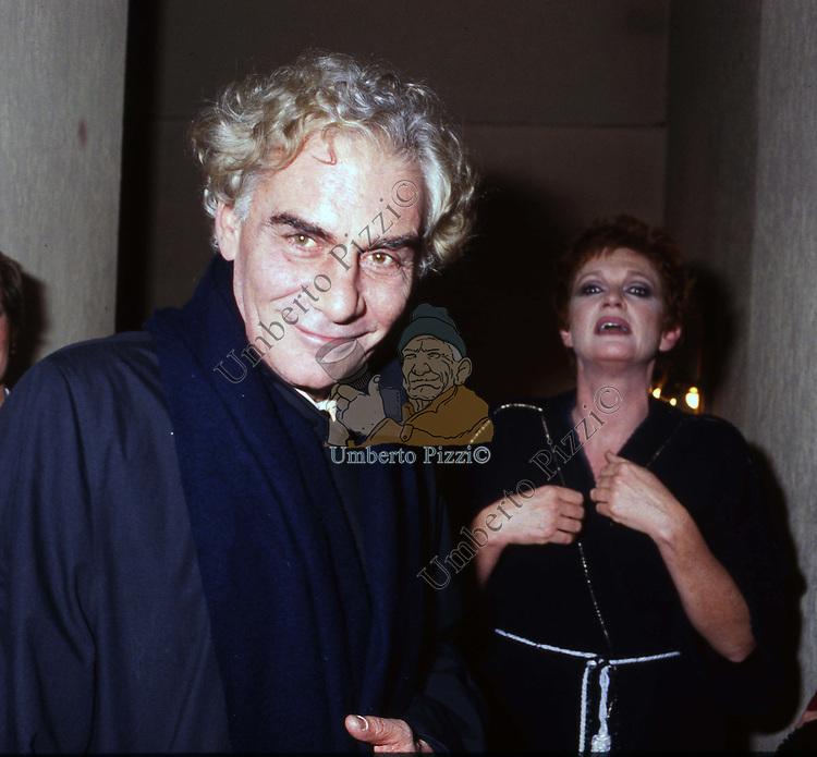 CARLA GRAVINA CON GIAN MARIA VOLONTE'<br /> TEATRO QUIRINO ROMA 1988