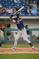 Carlos Tocci (9) of the Nashville Sounds bats against the Reno Aces at Greater Nevada Field on June 5, 2019 in Reno, Nevada. The Aces defeated the Sounds 3-2. (Stephen Smith/Four Seam Images)