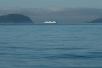 Ferry off Orcas Island, San Juan Islands, Washington, US