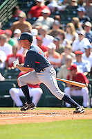 March 10,2009: Infielder Michael Aubrey (23) of the Cleveland Indians at Tempe Diablo Stadium in Tempe, AZ.  Photo by: Chris Proctor/Four Seam Images