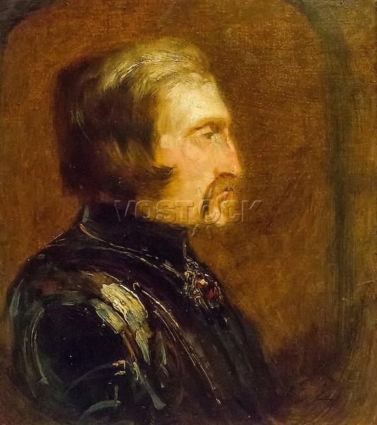 Self-portrait in armor by Felix Ziem (1821-1911)