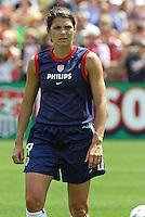Mia Hamm (USA).US Women's National Team vs Brazil at Legion Field in Birmingham, Alabama.