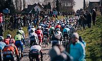 The Holleweg cobbles<br /> <br /> Omloop Het Nieuwsblad 2018<br /> Gent › Meerbeke: 196km (BELGIUM)