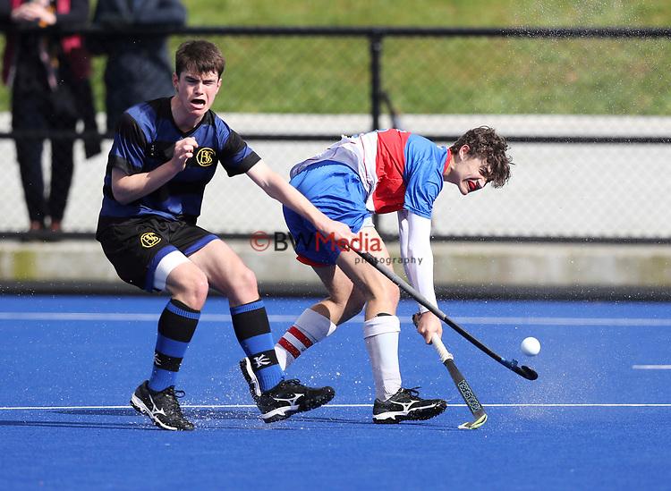 Rosmini College v CBHS. Rankin Cup and India Shield 2019 Secondary School Hockey Tournament, Nga Puna Wai Sports Hub, Christchurch, Saturday 07 September 2019. Photo: Martin Hunter/Hockey NZ