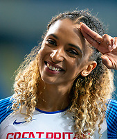 2nd May 2021; Silesian Stadium, Chorzow, Poland; World Athletics Relays 2021. Day 2; Laviai Nielsen post race salute as GB finish 3rd in the 4 x 400