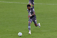 ST PAUL, MN - SEPTEMBER 27: Romain Metanire #19 of Minnesota United FC chases the ball during a game between Real Salt Lake and Minnesota United FC at Allianz Field on September 27, 2020 in St Paul, Minnesota.