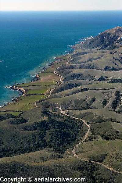 aerial photograph of Diablo Canyon Road,  San Luis Obispo County, California