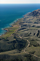 aerial photograph of Diablo Canyon Road,  San Luis Obispo County, California