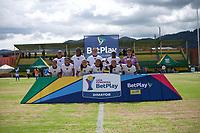 CHIA -COLOMBIA,19-10-2020: Fortaleza CEIF y Llaneros  en partido por la fecha 2 de la Liga femeina BetPlay DIMAYOR I 2020 jugado en el estadio de Chia. /Fortaleza CEIF and Llaneros in match for the date 2 BetPlay DIMAYOR women´s  League I 2020 played at Chia stadium in Chia. Photo: VizzorImage/ Samuel Norato / Contribuidor