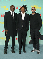 LOS ANGELES, CA - OCTOBER 13: Sean Carter, Swizz Beatz, Seal, at the Special Screening Of The Harder They Fall at The Shrine in Los Angeles, California on October 13, 2021. Credit: Faye Sadou/MediaPunch