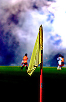 Close up of a corner flag at a football match