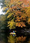 autum, kayak, colors